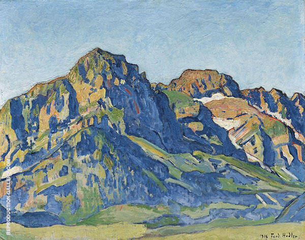 The Dents Blanches 1916 Painting By Ferdinand Hodler