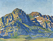The Dents Blanches 1916 By Ferdinand Hodler