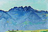 The Dents du Midi from Champery 1916 By Ferdinand Hodler