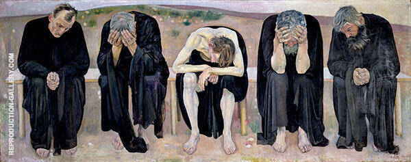 The Disappointed Souls 1892 Painting By Ferdinand Hodler