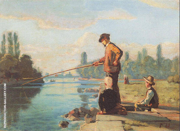 The Fisherman 1879 By Ferdinand Hodler