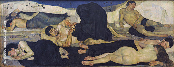 The Night 1889 Painting By Ferdinand Hodler - Reproduction Gallery