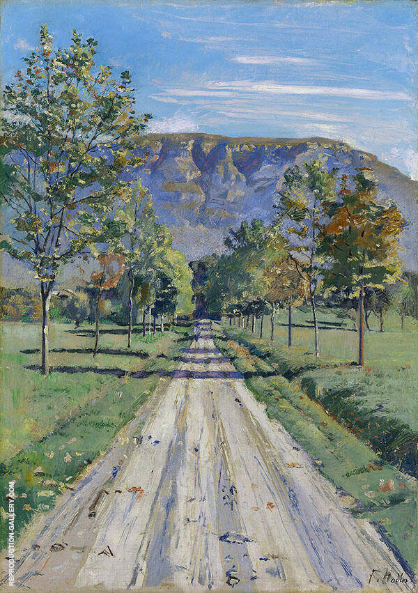 The Road to Evordes c1890 By Ferdinand Hodler