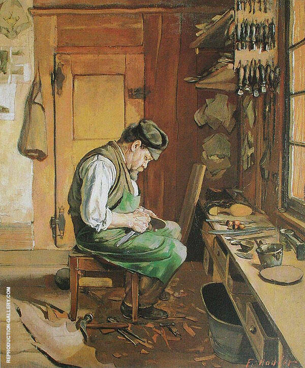 The Shiemaker 1878 Painting By Ferdinand Hodler - Reproduction Gallery