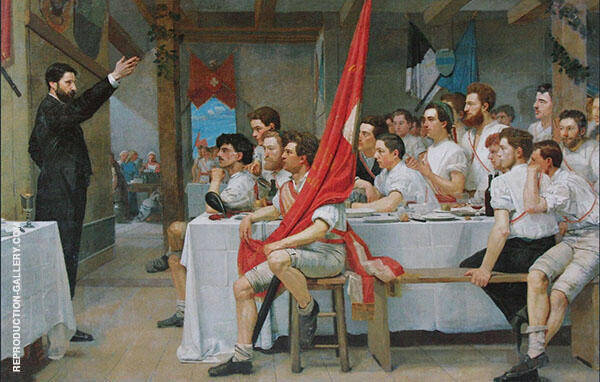 The Turner Banquet 1878 By Ferdinand Hodler