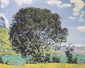 Tree on Lake Brienz from Bodeli 1906 By Ferdinand Hodler