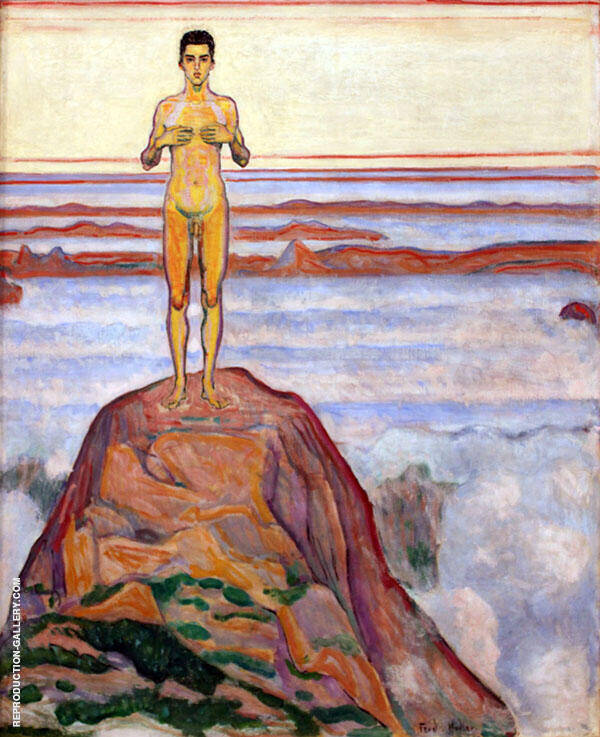 View into Infinity III 1905 Painting By Ferdinand Hodler