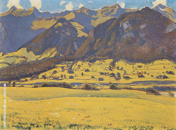 View of The Fromberghorn from Reichenbach 1903 By Ferdinand Hodler