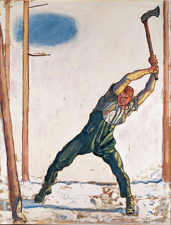 Woodcutter 1910 Painting By Ferdinand Hodler - Reproduction Gallery