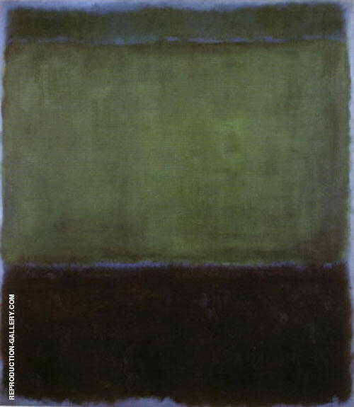 No 3 Green and Blue 1957 by Mark Rothko (Inspired By) | Oil Painting Reproduction Replica On Canvas - Reproduction Gallery