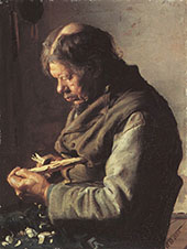 Lars Gaihede Whittling a Stick By Anna Ancher