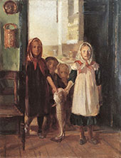 Little Girl with a Cod By Anna Ancher