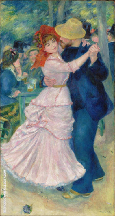 Dance at Bougival 1883 By Pierre Auguste Renoir