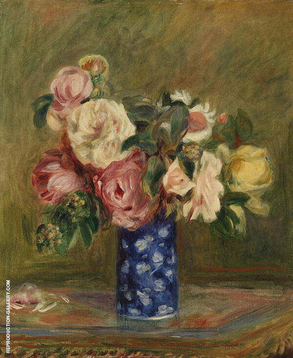 Bouquet of Roses 1882 By Pierre Auguste Renoir