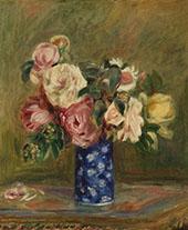 Bouquet of Roses 1882 By Pierre Auguste Renoir