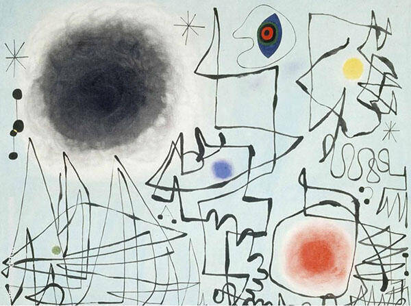 Diamond Smiles at Twighlight Painting By Joan Miro - Reproduction Gallery
