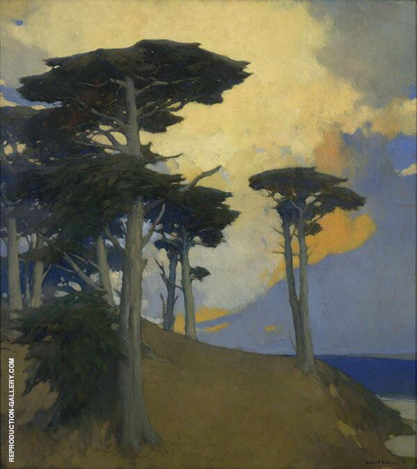 Monterey Cypress 1933 Painting By Arthur Frank Mathews