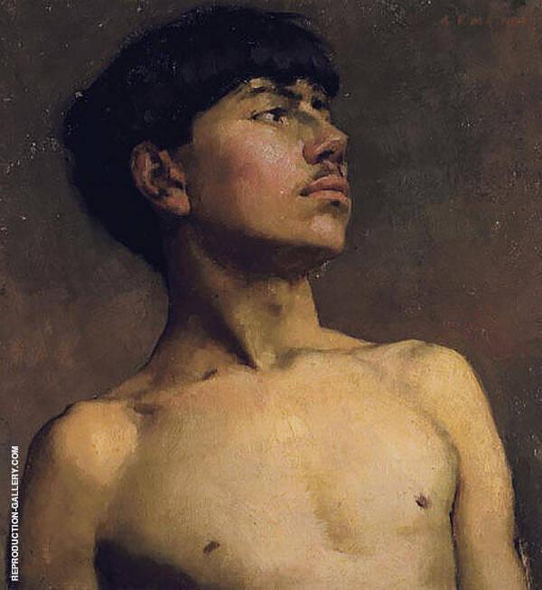 Portrait of Xavier Martinez Painting By Arthur Frank Mathews