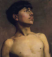 Portrait of Xavier Martinez By Arthur Frank Mathews