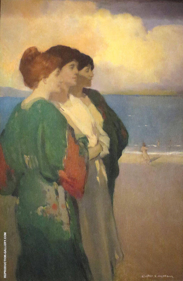 Song of The Sea The Three Graces Painting By Arthur Frank Mathews
