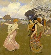 Spring Dance By Arthur Frank Mathews