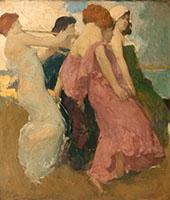 The Dancers By Arthur Frank Mathews