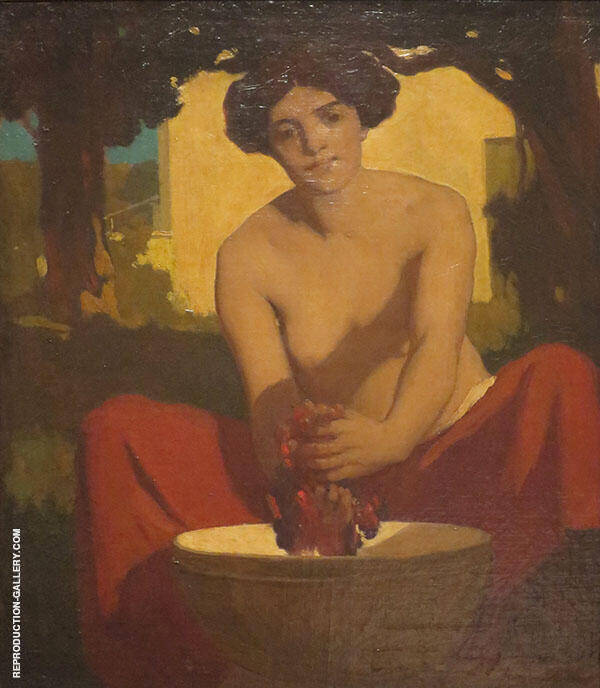 The Grape The Wine Maker Painting By Arthur Frank Mathews