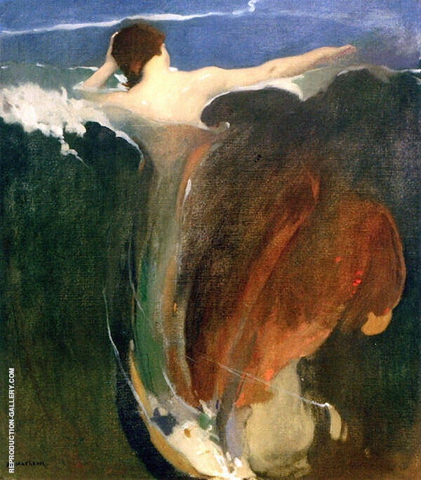 The Wave Painting By Arthur Frank Mathews - Reproduction Gallery