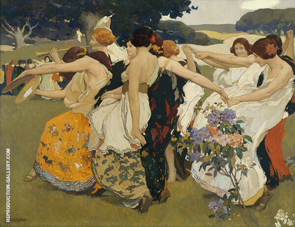 Youth Painting By Arthur Frank Mathews - Reproduction Gallery