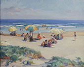Beach Scene By Mabel May Woodward