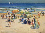 Beach Scene 2 By Mabel May Woodward