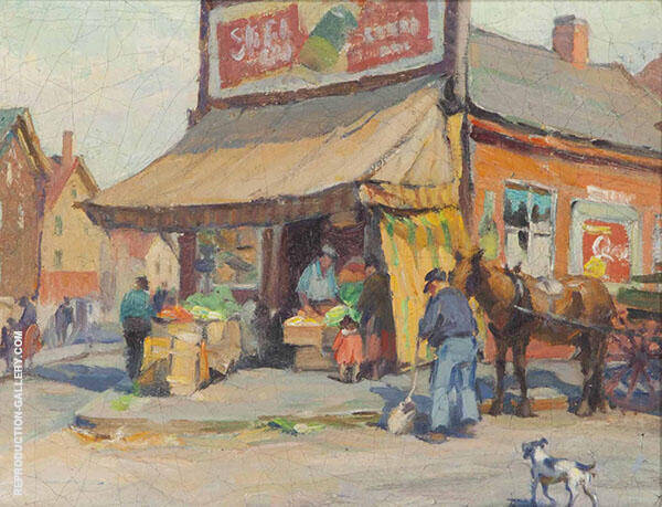 Market Place Providence Rhode Island By Mabel May Woodward
