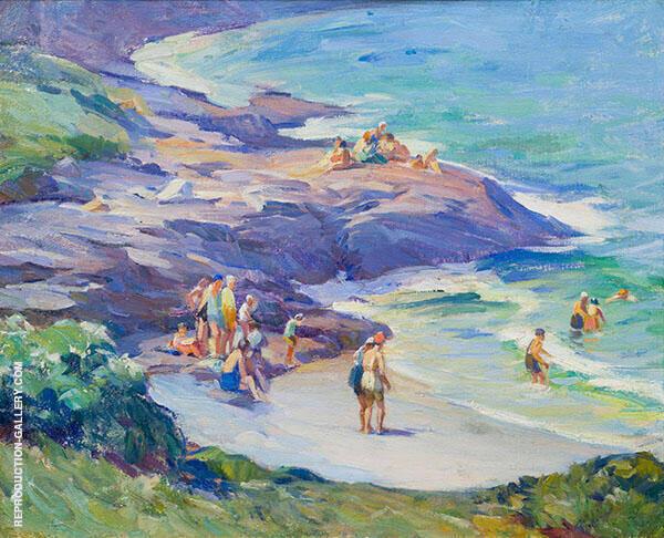 Ogunquit Bathers By Mabel May Woodward
