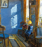 Sunlight in a Blue Room 1891 By Anna Ancher