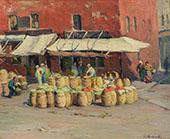 Steeple Street Market By Mabel May Woodward