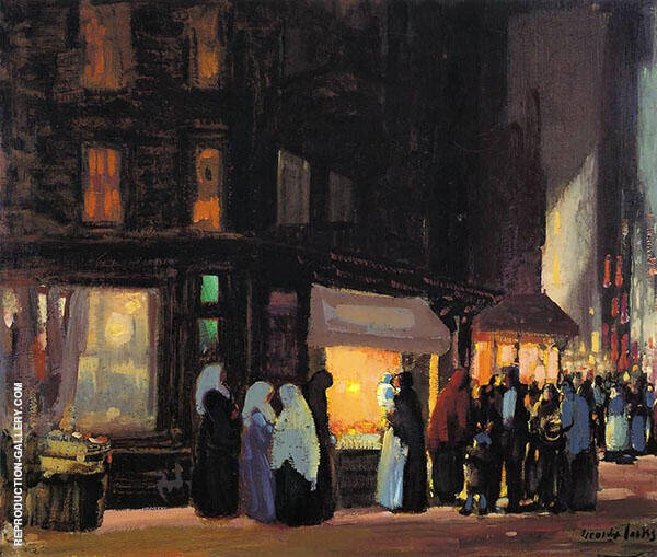 Bleeker and Carmine Streets By George Luks