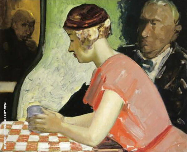 Cafe Scene By George Luks