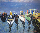 Holiday on The Hudson c1912 By George Luks