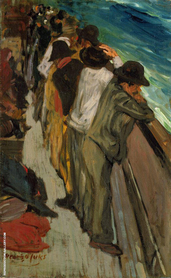 In The Steerage By George Luks