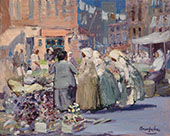 Spring Morning Houston and Division Streets New York By George Luks