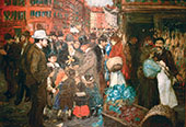 Street Scene Canvas By George Luks