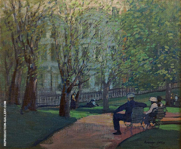 Summer Day Boston Public Garden By George Luks