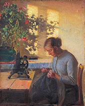Sewing Fisherman's Wife 1890 By Anna Ancher