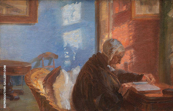 The Artist's Wife Reading 1881 By Anna Ancher