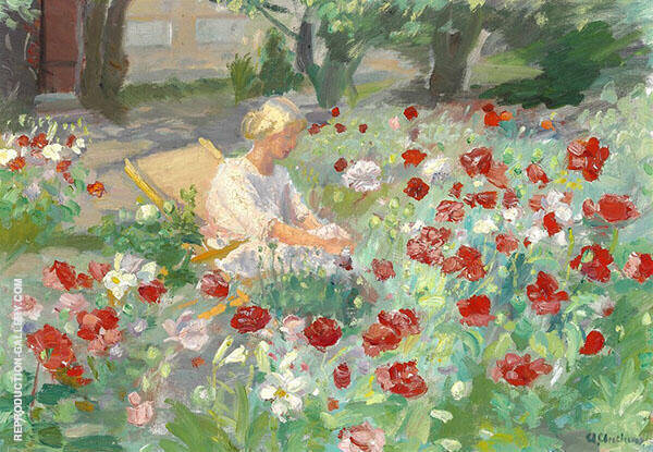 Young Girl Between Poppies c1910 By Anna Ancher