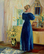 Young Woman in Front of a Mirror By Anna Ancher