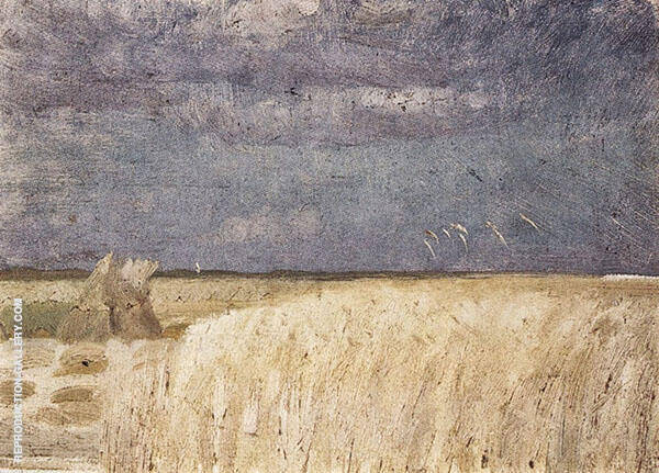 Cornfield at Harvest By Anna Ancher