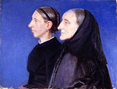 Portrait of Ane Hedvig Brondum and her Daughter Hulda 1895 By Anna Ancher