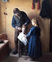 The Haircut By Anna Ancher