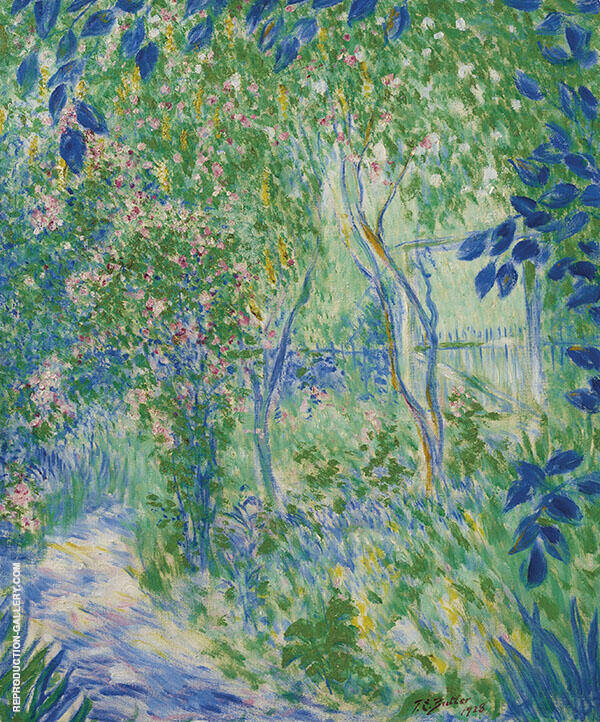 Garden in Giverny By Theodore Earl Butler